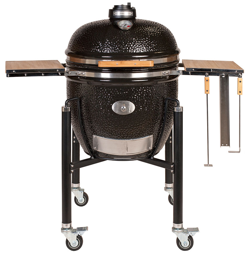 monolith kamado le chef black with cart great outdoors bbq co. Black Bedroom Furniture Sets. Home Design Ideas
