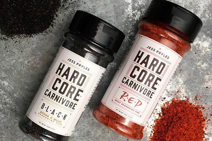 Hardcore Carnivore 2 x Pack Deal, 1 x Red and 1 x Black
